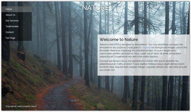 Nature Dreamweaver Template