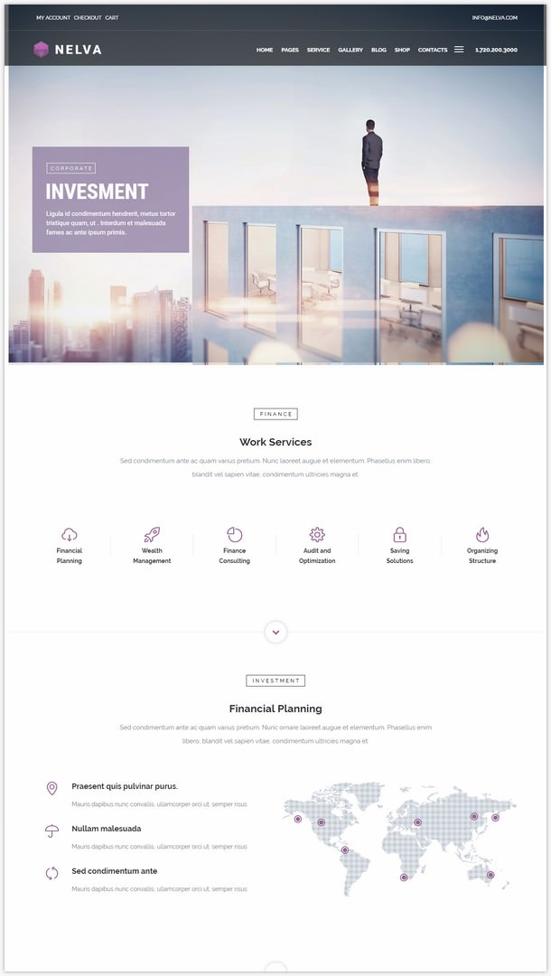 Nelva - Marketing, Finance, Startup wp theme