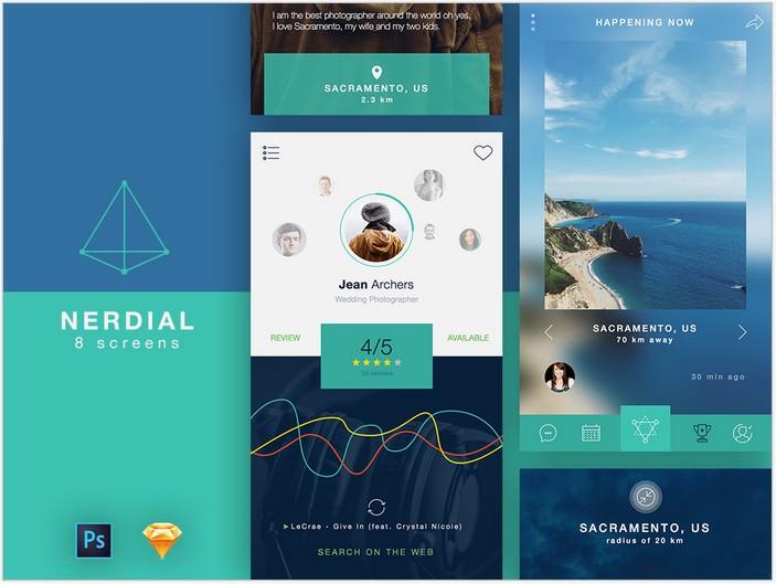 Nerdial App UI Kit