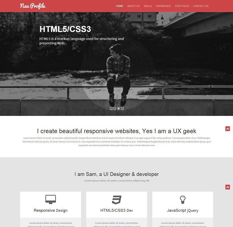 Neu – Web Designer Profile Responsive Web Template