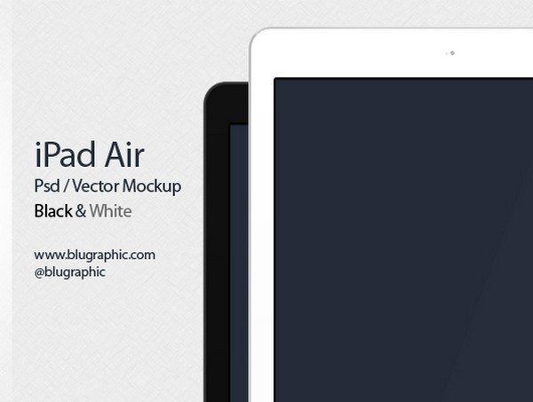 New Ipad Air Mockup (Psd)