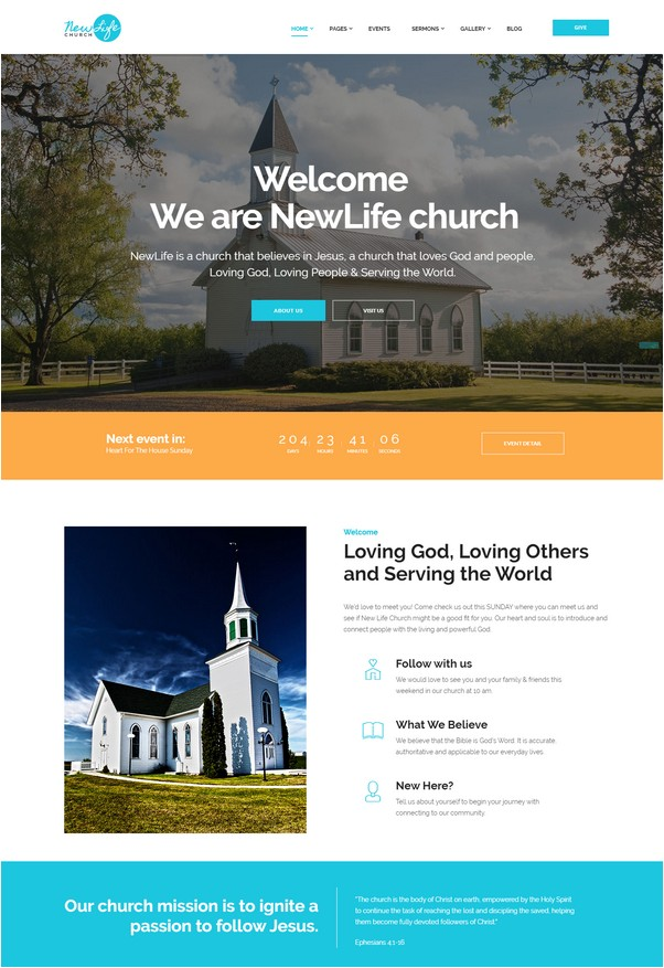New Life Church & Religion Site Template