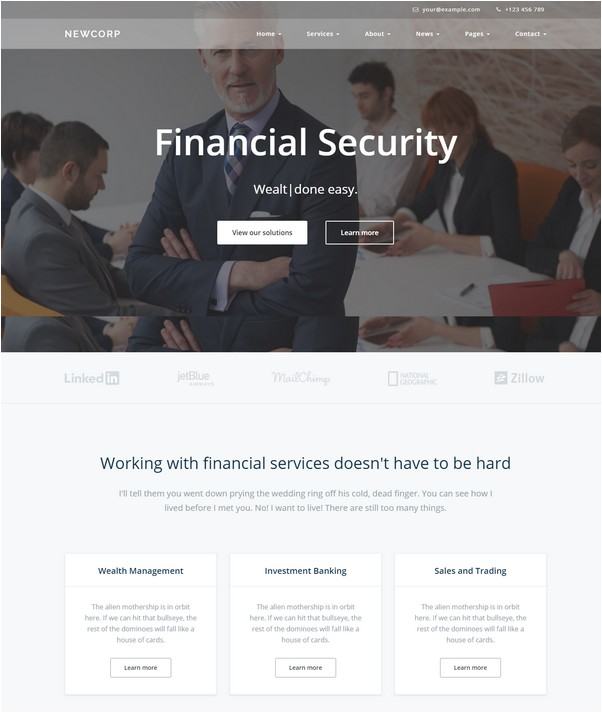 Newcorp - A Business, Finance & Consulting Template