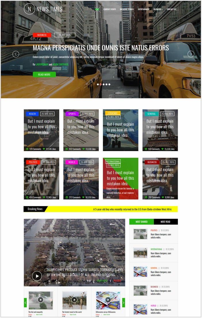News Times Bootstrap Responsive Web Template
