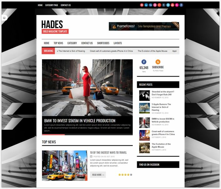 News WordPress PHP Template
