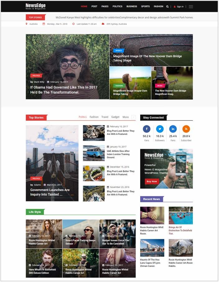 NewsEdge - News HTML Template