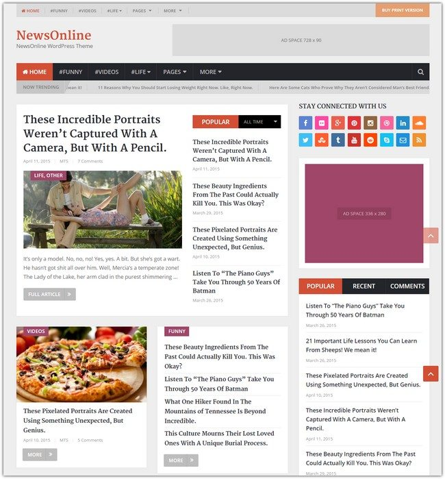 NewsOnline WordPress Theme