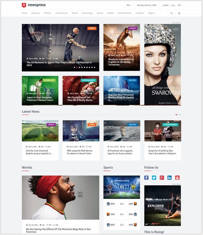 NewsPress - Bootstrap News Template