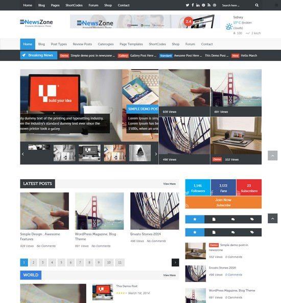 NewsZone - Responsive & Retina WordPress Magazine