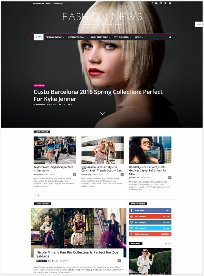 Newsmag - Fashion WP PHP Theme