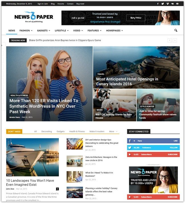 Newspaper Responsive WordPress Theme