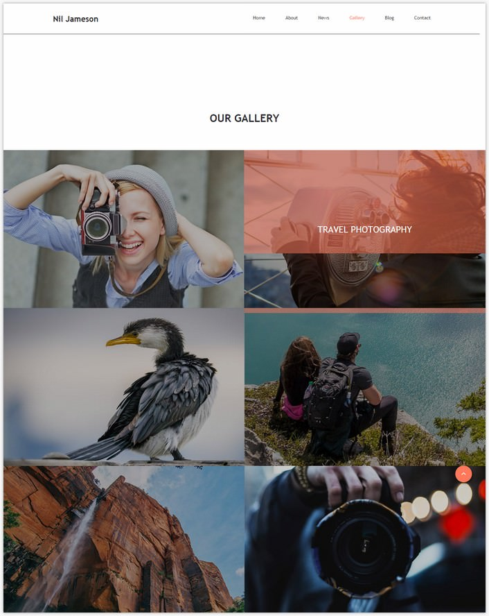 Nil Jameson Responsive Photo Gallery Template