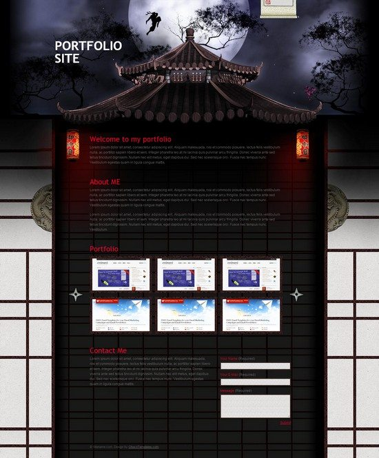 Ninja Assassin – Free Template