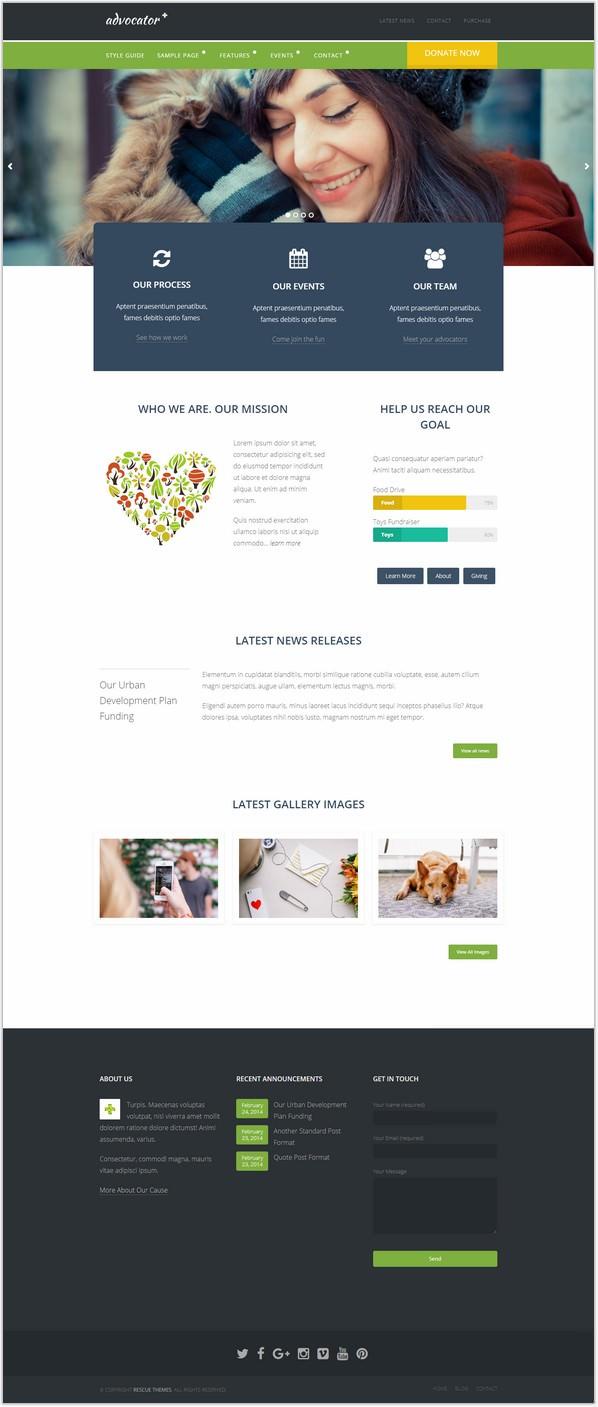Nonprofit & Charity Responsive WordPress Theme