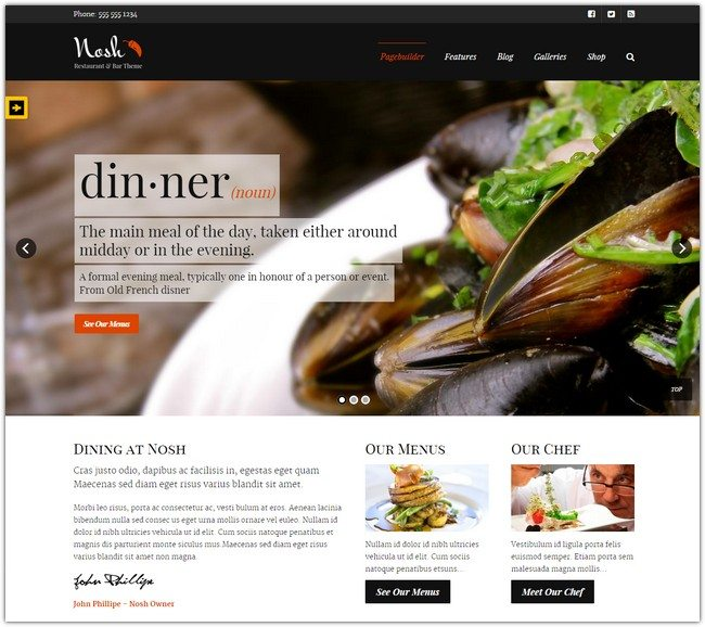 40 Best Food And Restaurant WordPress Themes 2018 Templatefor