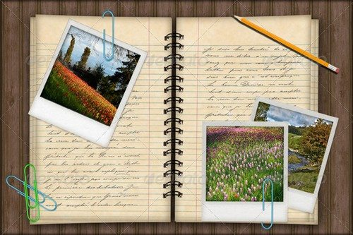 Notebook-Photo-Template-Background