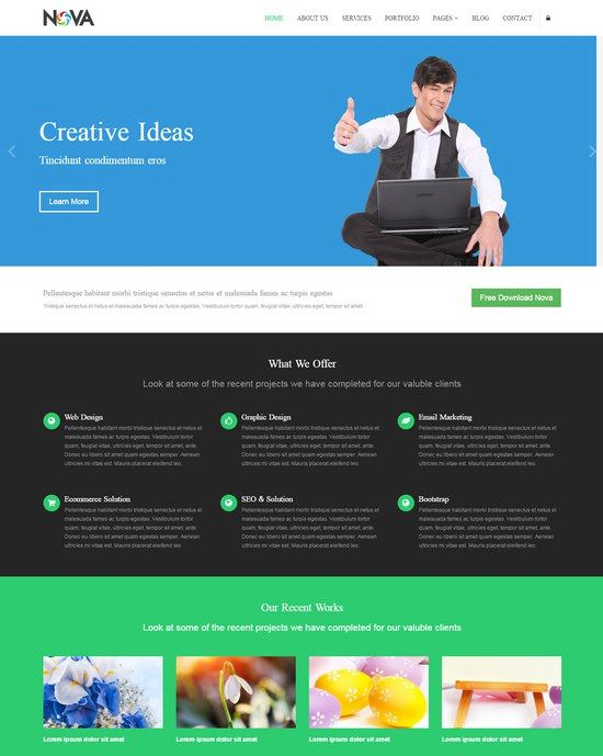 Nova Multipurpose Site Template