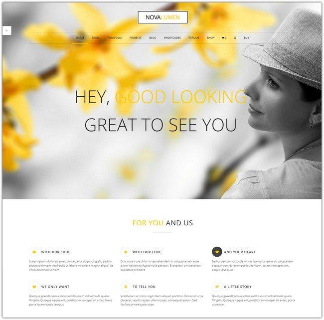Novalumen - Modern WordPress Theme