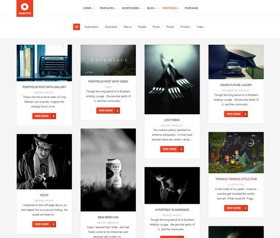 Objective – Responsive Portfolio Photography Theme