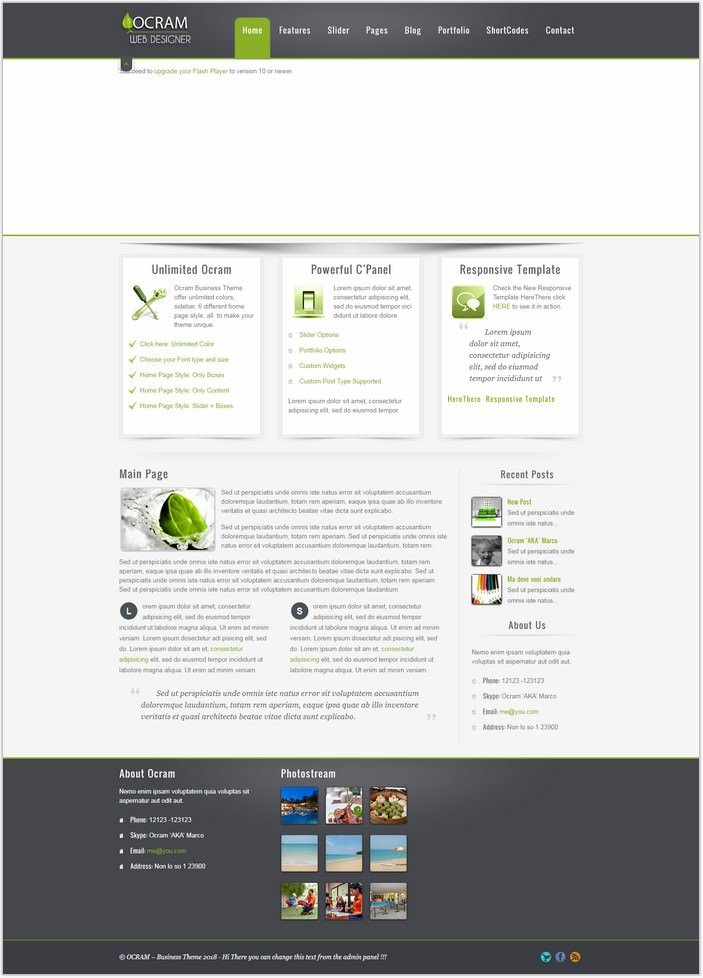 Ocram – Business Marketing PHP WordPress Theme