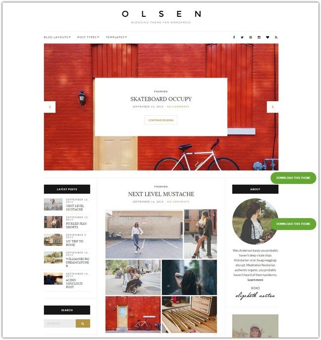Olsen WordPress Theme