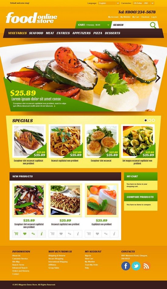 Online Food Store Magento Theme