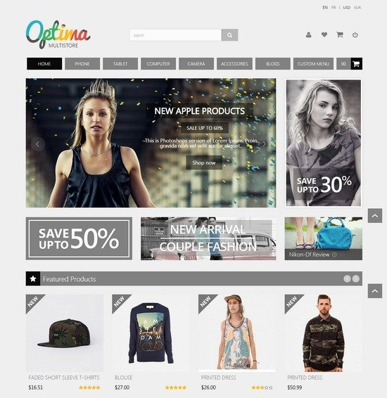 Optima - Multipurpose Responsive Prestashop Theme