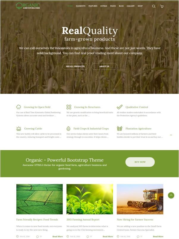Organic - Agriculture Farm