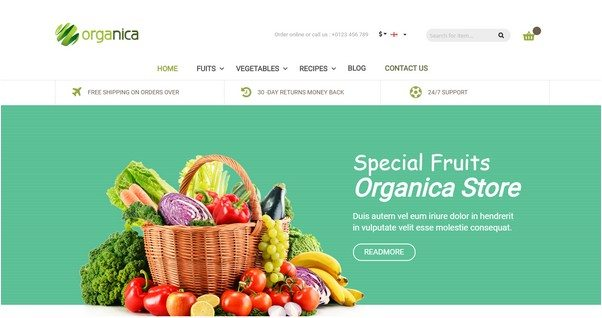 Organica - Organic, Beauty, Natural Cosmetics, Food, Farn and Eco Magento Theme