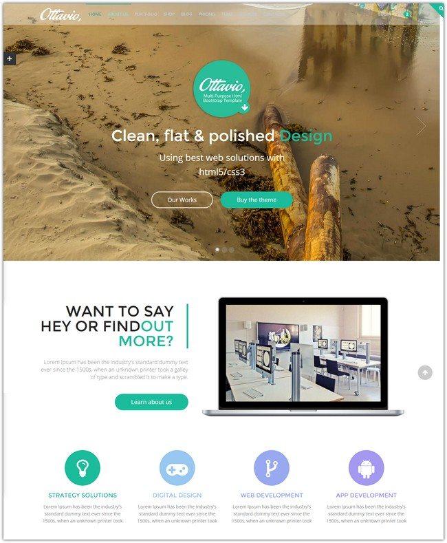 Ottavio - Multipurpose HTML5 Bootstrap Template