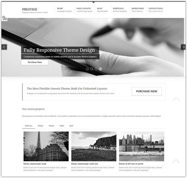 PRESTIGE WordPress Theme