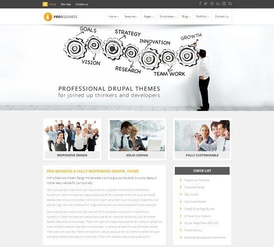 PROBusiness - Multi Purpose Corporate Drupal Theme