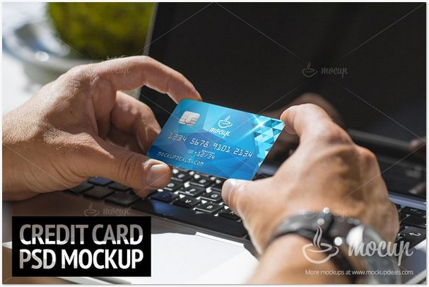 PSD Mockup Credit Card