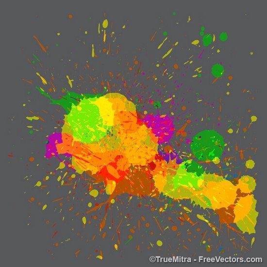 Paint Splatters Free Vector