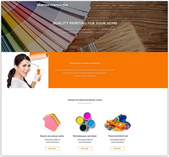 Painting Contractor Website Template