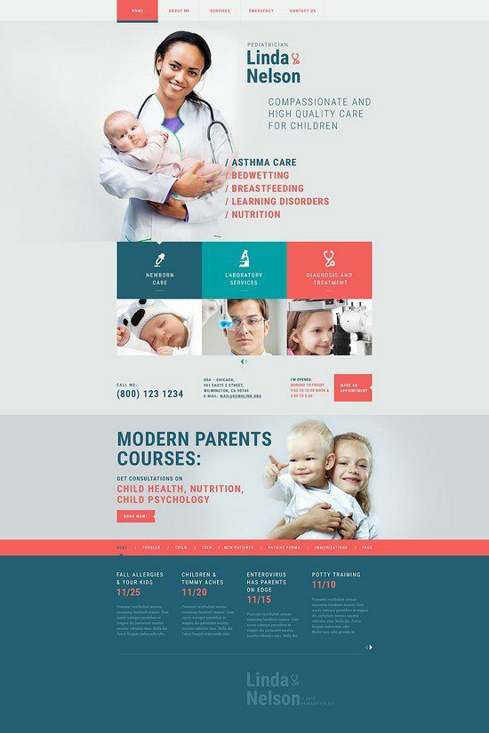 Pediatrician-Responsive-Website-Template