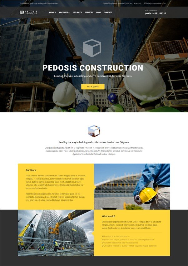 Pedosis - Construction Responsive HTML Template