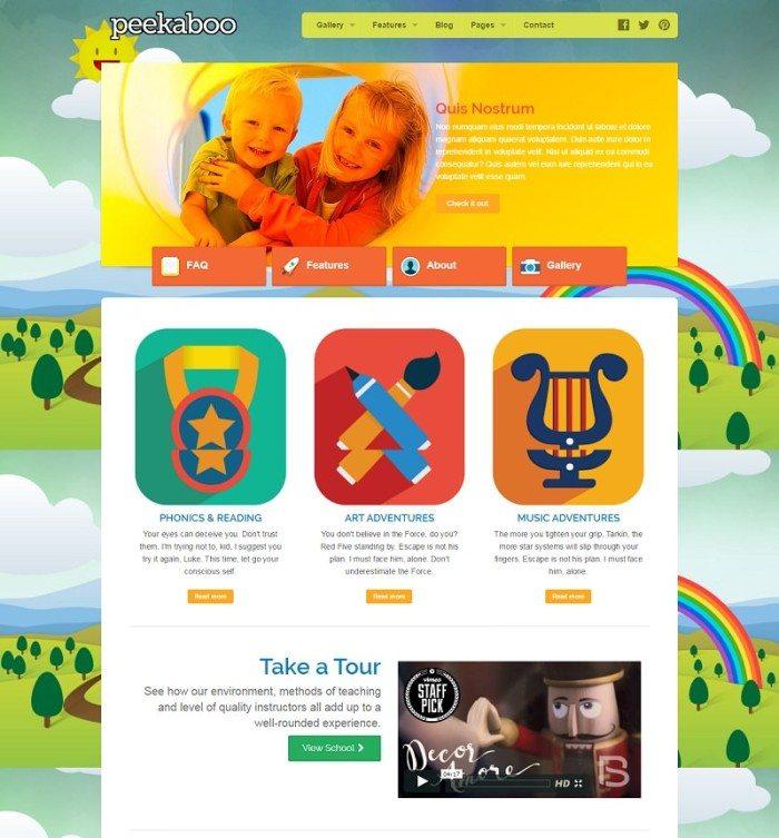 Pekaboo for WordPress - Children Theme Template