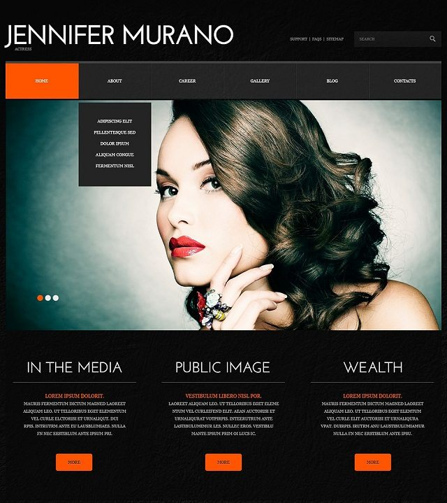 Personal Page Responsive WordPress Themes