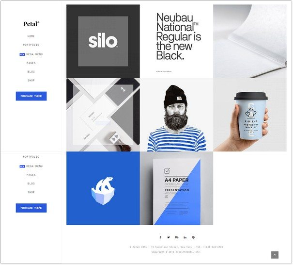Petal - Creative Portfolio for Freelancer and Agency