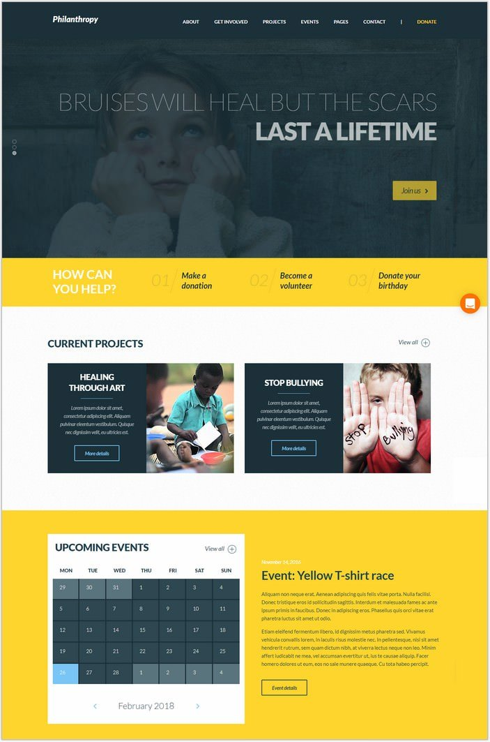 Philanthropy - Nonprofit WordPress Theme