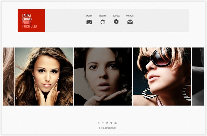 Photographer Portfolio Photo Gallery Template # 3