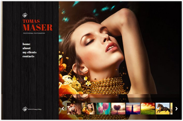 Photographer Portfolio Photo Gallery Template # 4