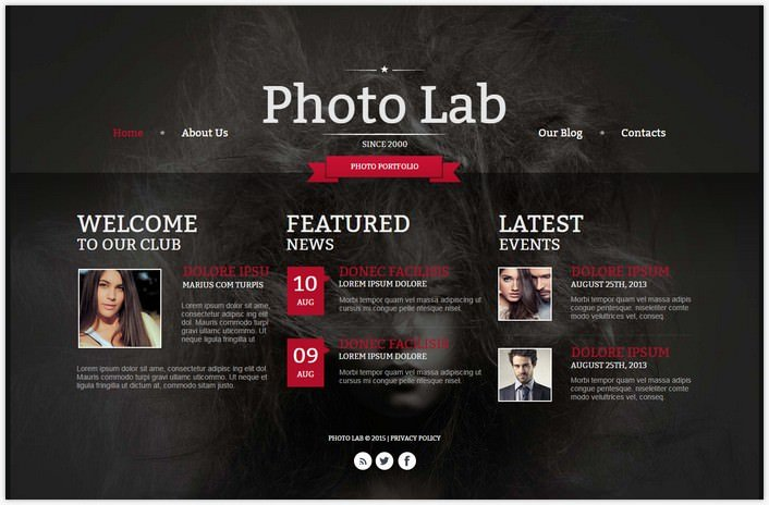 Photographer Portfolio Photo Gallery Template # 6