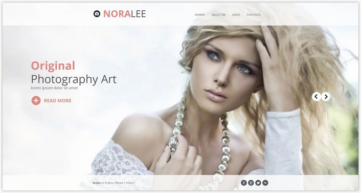 Photographer Portfolio Photo Gallery Template # 7
