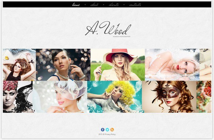 Photographer Portfolio Photo Gallery Template # 8