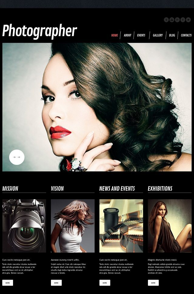 Photographer Portfolio Responsive WP Themes