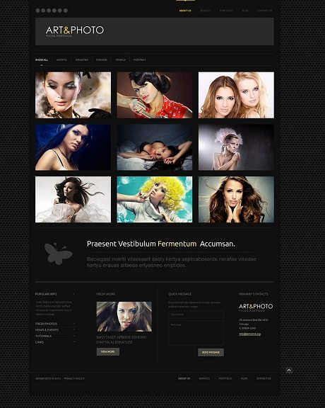 Photographer Portfolio Responsive WordPress Themes