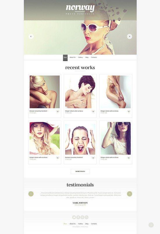 Photographer Portfolio WordPress Theme