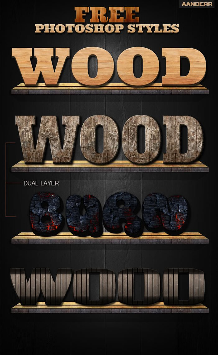 Photoshop Wood Styles